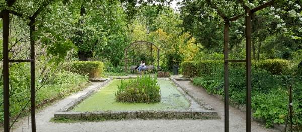 Den großen botanischen Garten in Montpellier