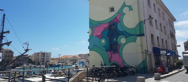 Street Art im Hafen von Sète