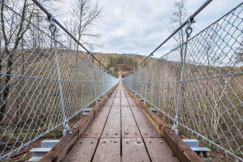 Hängeseilbrücke im Bärental in Thüringen