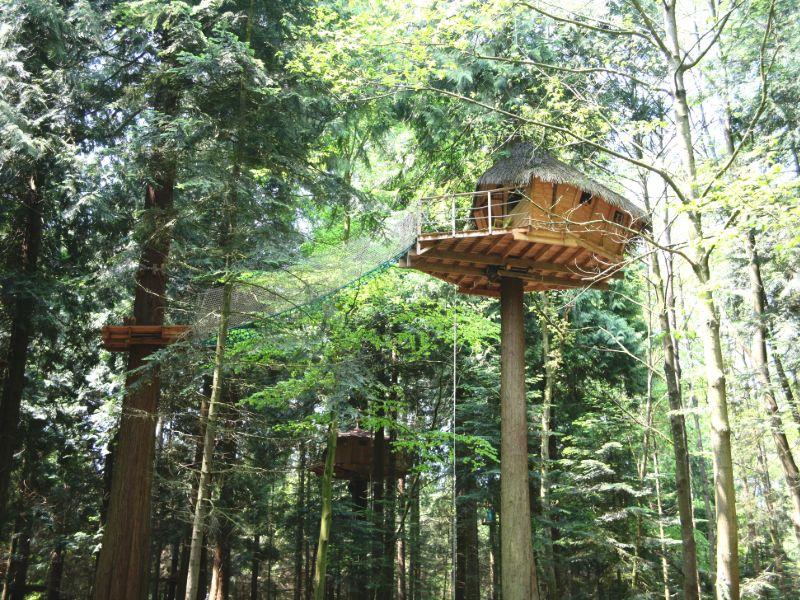 Baumhäuser Campingplatz Les Ormes